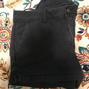 Navy Blue Shortie Shorts American Eagle